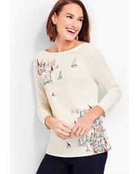 Talbots - Sailboat Bateau-neck Top - Lyst