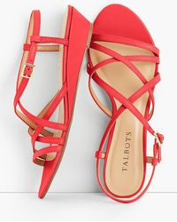 Talbots - Capri Leather Sandals - Lyst