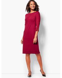 Talbots - Bow-sleeve Refined Ponte Sheath Dress - Solid - Lyst