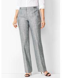 Talbots Windsor Linen Wide-leg Pants