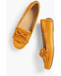 Talbots - Everson Fringed Driving Moccasins - Lyst