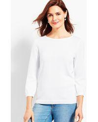 Talbots - Bonnie Bows Crewneck Sweater - Lyst