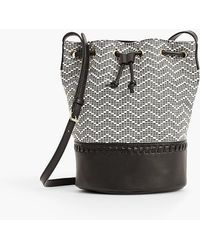 Talbots - Chevron Texture Bucket Bag - Lyst