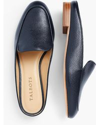 Talbots - Frannie Pebble Leather Mules - Lyst