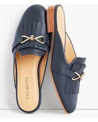 Talbots - Cassidy Fringed Mules - Lyst