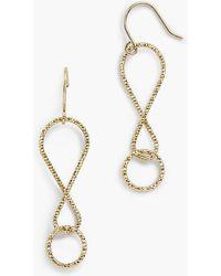 Talbots - Twist Drop Earrings - Lyst