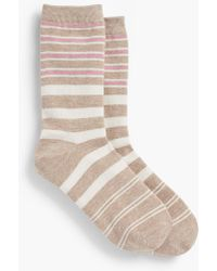 Talbots - Variegated Stripe Trouser Sock - Lyst