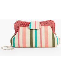 Talbots - Yarn-dye Stripe Wicker-trim Clutch - Lyst