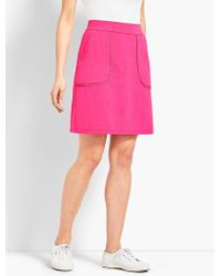 Talbots - Slub Terry Knit Skirt - Lyst
