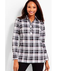 Talbots - The Longer-length Wrinkle-resistant Popover - Classic Plaid - Lyst