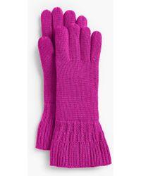 Talbots - Ruffle-edge Gloves - Lyst