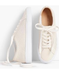 Talbots - Perforated Leather Sneakers - Lyst