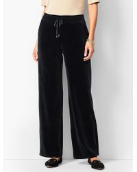 Talbots - Luxe Velour Wide-leg Pants - Lyst