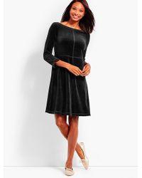 Talbots - Luxe Velour Scoop-back Dress - Lyst