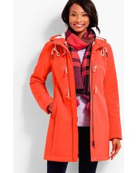 Talbots - Bonded Sherpa Coat - Lyst