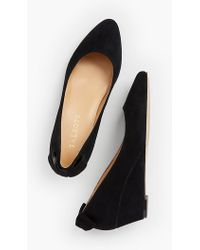 Talbots - Laney Back-bow Wedge - Suede - Lyst