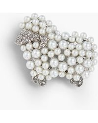 Talbots - Holiday Brooch Collection - Pearl Sheep - Lyst