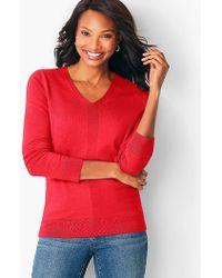 Talbots - Modern V-neck Sweater - Lyst