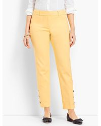 Talbots - Hampshire Ankle Pant - Curvy Fit/button-cuff - Lyst