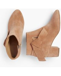 Talbots - Maud Suede Side-bow Booties - Lyst