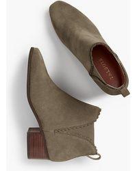 Talbots - Dakota Scallop-edge Ankle Boot - Lyst
