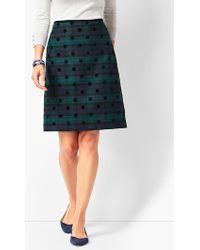 Talbots - Black Watch Plaid A-line Skirt - Lyst