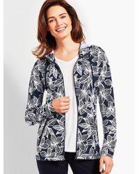 Talbots - Floral Soft-drape Jersey Jacket - Lyst