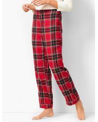 Talbots - Drawcord Pyjama Pant - Yarn-dyed Tartan Plaid - Lyst