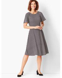2bef759eb55 Lyst - Karen Kane Print Cascade Drape Dress (plus Size) in Black