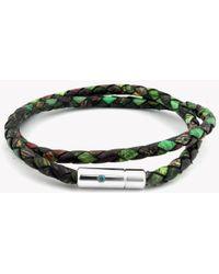 Tateossian - Pop Print Scoubidou Silver Bracelet In Green - Lyst