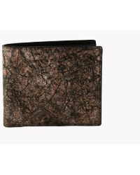 Tateossian - Washi Wallet In Brown - Card And Coin Pockets - Lyst
