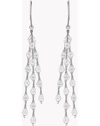 Tateossian - Liquid Diamonds Silver Earrings - Lyst
