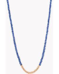 Tateossian - Bamboo Burmese Sapphire 18k Gold Necklace - Lyst