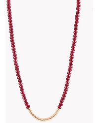 Tateossian - Bamboo Ruby 18k Gold Necklace - Lyst