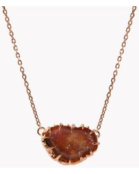 Tateossian - Geode Short Silver Necklace In Pink - Lyst