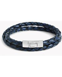 Tateossian - Double Wrap Scoubidou Leather Bracelet - Lyst
