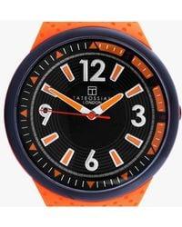 Tateossian - Racing Time Watch In Orange - Lyst