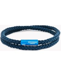 Tateossian - Rt Rubber Cable Bracelet In Blue - Lyst