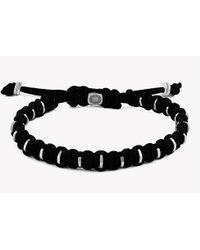 Tateossian - Large Macramé Bamboo Silver Bracelet - Rhodium Finish - Lyst