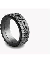 Tateossian - Mechanical Silver Rings - Lyst
