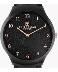Tateossian   Keramikos Guilloche Watch In Ceramic With A Black Mother Of Pearl Face   Lyst