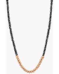 Tateossian Bamboo Black Diamonds & 18k Gold Necklace