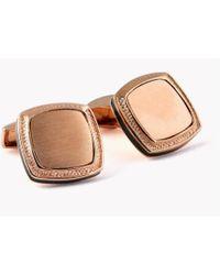 Tateossian - Signature Silver Classic Cufflinks - Rose Gold Plated - Lyst