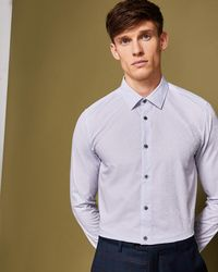 Ted Baker - Floral Jacquard Cotton Shirt - Lyst