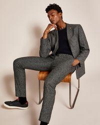 Ted Baker - Slim Semi Plain Wool Trousers - Lyst