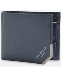 Ted Baker | Spot Embossed Bi-fold Leather Wallet | Lyst