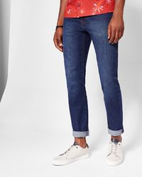 Ted Baker - Mid-wash Tapered Jeans - Lyst