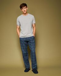 Ted Baker - Checked Cotton Pyjama Set - Lyst