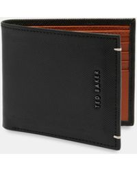 Ted Baker - Perforated Leather Bi-fold Wallet - Lyst