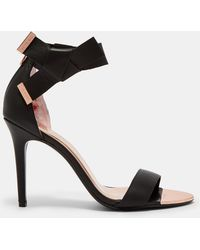 Ted Baker - Knotted Bow Sandals - Lyst